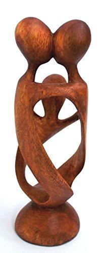 Wohnkult Escultura Figura 20cm Familia Madera Suar