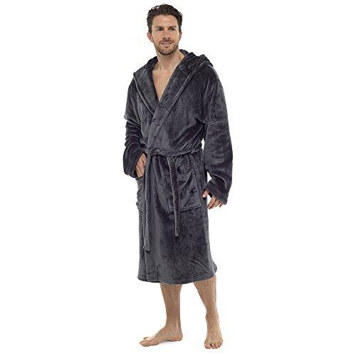 De lujo para hombre con capucha albornoz Super...