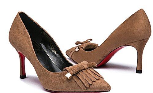 Dame en automne arc mat glands chaussures/Asakuchi a fait stiletto talon chaussures C