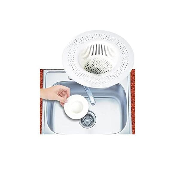 Generic 2 X Sink Strainer floor drain cover trap basin filter for bathroom and kitchen