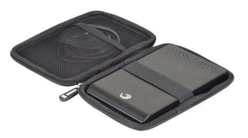 Duronic HDC2 Small Black EVA Carry Case for External Portable Hard Drive - Suitable for WD/western digital   Toshiba   Buffalo   Hitachi   Seagate   Samsung   500GB   1TB   2TB   3TB Hard Black Carrying Case