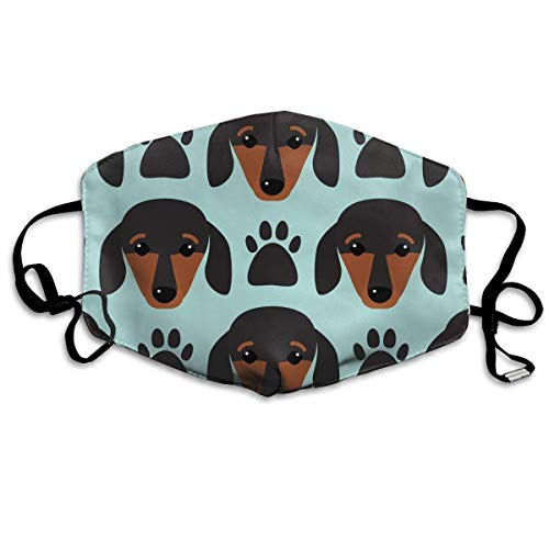 Little Dachshund Puppy Head Anti Pollution Respirator Dust Mask Cotton Reusable Face Mouth Mask Fashion for Men Women -