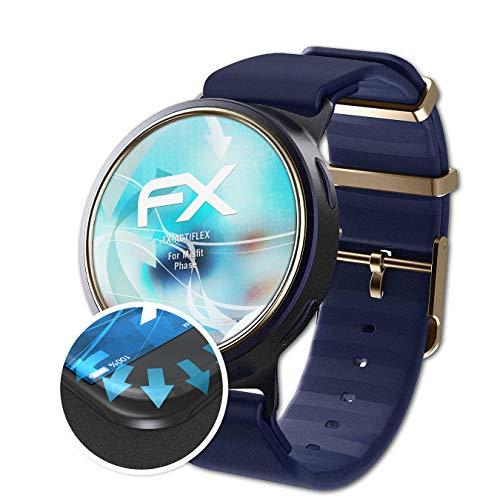 atFoliX Schutzfolie passend für Misfit Phase Folie, ultraklare & Flexible FX Bildschirmschutzfolie (3X)