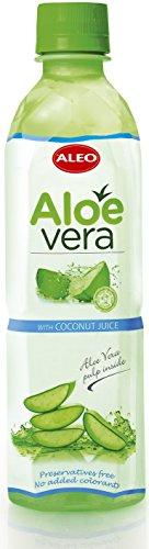 Kokos-saft (Aloe Vera Getränk ALEO mit Kokos-Saft 500ml X 24 Einheit)