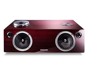 Samsung DA-E750 Attive Minispeaker 2.1, Potenza 100 Watt, Dual Docking per iPad, iPod, iPhone, Colore Rosso