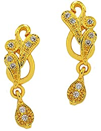 f810c98a9 Crave American Diamond studded Gold plated stylish stud earrings for girls  and women