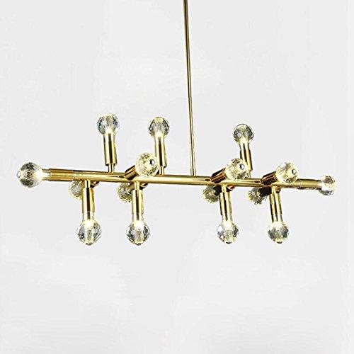 Suspensions Lustre en cristal d'or/lampe à lampe en fer Lustre / L95 * W25 * H80 (cm)