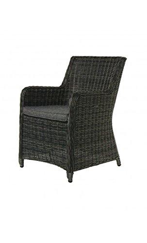 Cor Mulder - Chaise d'extérieur en résine tressée gris Nizza