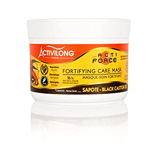 Activilong Actiforce Fortifying Care Mask Black Castor Oil Sapote Kastoröl und Sapote-Butter 200 ml