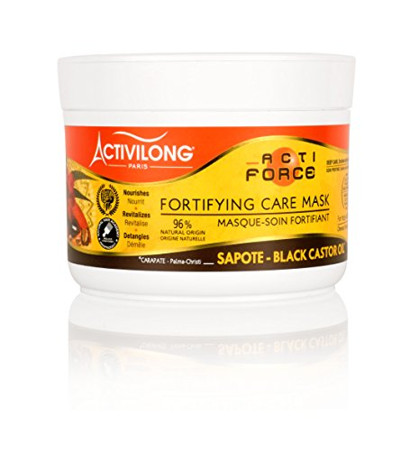 Activilong Actiforce Fortifying Care Mask Black Castor Oil Sapote Kastoröl und Sapote-Butter 200 ml -