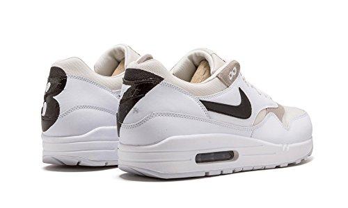 Nike Air Max 1 Prm, Chaussures de Running Entrainement Homme Blanc Cassé - Blanco (White / Black-Phantom)