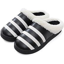 c942ce87df817 YMFIE Los Hombres de Invierno señoras Amantes Home Dormitorio Dormitorio Interior  térmico Impermeable PU Antideslizante Shoes