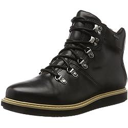 Clarks Glickasha Gtx, Botas para Mujer, Negro (Black Leather), 39 EU