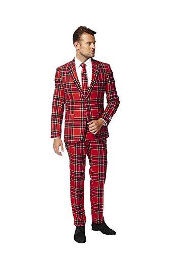Lumberjack Anzug Weihnachten Xmas Suit Slimline Herren 3-teilig Premium Gr - Halloween Opposuits