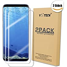 Galaxy S8+ Protector de pantalla [2 Unidades] [Full cobertura no cristal], Yootech LiQuidSkin Wet Applied anti-burbujas S8 plus de Samsung Galaxy HD claro caso película amable - garantía de por vida