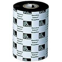 Zebra 2300 Wax 83mm x 300m cinta para impresora - Cinta de impresoras matriciales (110Xi4 140Xi4 170Xi4 220Xi4 ZM400 ZM600 105SL S4M GX420t GX430t GK420t TLP 2824 TLP..., Transferencia térmica, Negro, 300 m, 83 mm)
