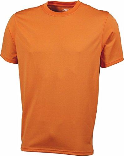 Herren Jersey Sport T-Shirt Orange