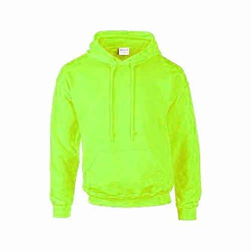 Gildan - Felpa con Cappuccio - Uomo Verde fluorescente