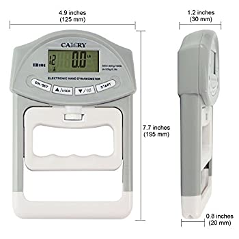 Camry Digital Hand Dynamometer 200 Lbs 90 Kgs Grip Strength Measurement Meter Auto Capturing Hand Grip Power 1