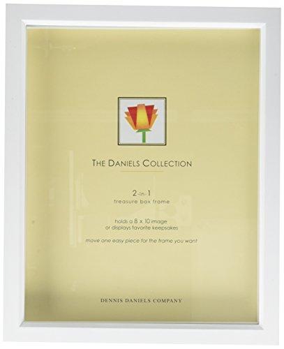 Rechteckige Abgeschrägte Glas (Dennis Daniels Holz Treasure Box Bilderrahmen, 20,3x 25,4cm, hell weiß)