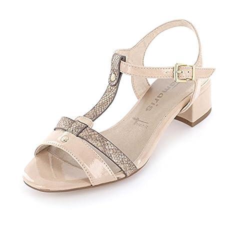 Tamaris Schuhe 1-1-28220-38 bequeme Damen Sandalette, Sandalen, Sommerschuhe für modebewusste
