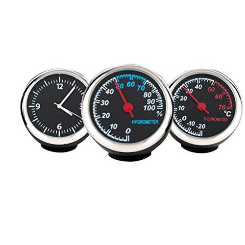 WINOMO Set Reloj Higrómetro Termómetro Coche Luminoso