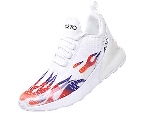 SINOES Femme Homme Mode Chaussures de Sports Course Fitness Gym athlétique Multisports Outdoor Casual Baskets Blanc 42 EU