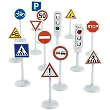 Norev 318990 - Juego de señales de tráfico y semáforos en miniatura