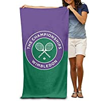 "Monicago Beach Towel, Bath Towel, Quick Dry Towel Microfibre Towel, Wimbledon Tennis Tournament Beach Towel for Adults / 31""x 51"" (80cm X 130cm)"