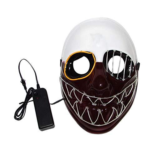 (LED Halloween Masken Cosplay Maske Erschreckend Leuchten Maske Cosplay Maske Für Festival,Cosplay,Halloween,Kostüm by Futurepast)