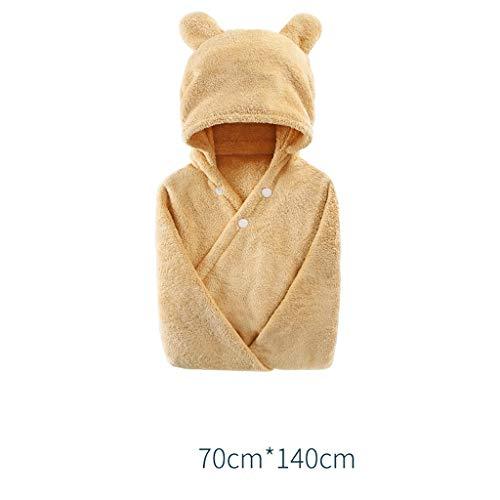 Tier Kapuze Baby-Handtuch Waschlappen Ultra Soft und Extra Large, 100% Baumwolle Bademantel for Groß Kind/Neugeborenes Dusche Geschenk for Jungen oder Mädchen (0-4 Jahre) (Color : Brown)