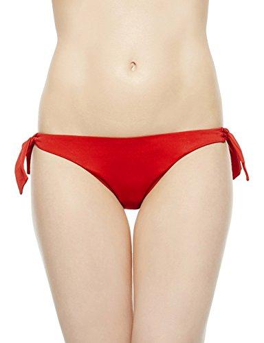 EONAR Damen Niedriger Bund Bikinihosen Seitlich zu binden Brazil-Bikinislip (M,Red) (Rise Low Bikini Bottom)