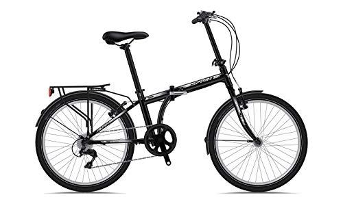 """Sprint Urban 24"""" Bicicleta Plegable 7 Cambios para Hombres Mujeres Negro Matte"""