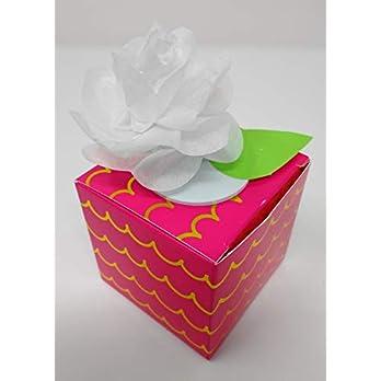 Geschenk – Boxen im 6 er Set zum Geburtstag, Geschenkidee, Tischdeko, Ostern, Muttertag, Hochzeit, Kommunion als Gastgeschenk, Muttertag, Weltfrauentag.