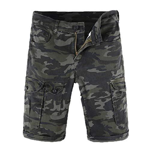Aiserkly Männer Casual Camouflage Outdoor Multi-Pocket Arbeitshose Cargo Shorts Strand Hose -