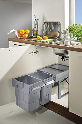 Contenedor múltiple para desagüe de armario de cocina, 32 L