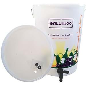 Balliihoo® 5 Gallon / 25 Litre Fermentation Bucket With Lever Tap & LCD Temperature Strip