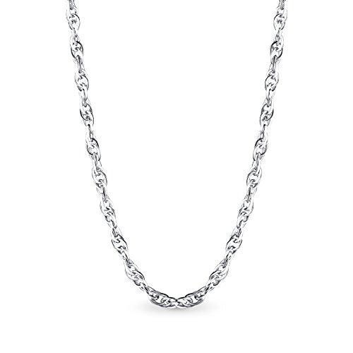 T400 Jewelers 925 Sterling Silber 1.7mm Seil Kette Halskette Spring Clasp, 45cm