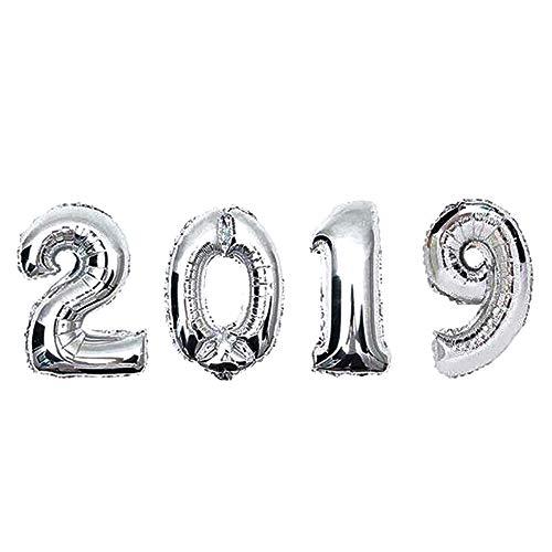 Mitlfuny 2019 Happy New Year Aluminiumfolie Ballons FüR JubiläUm Geburtstag Weihnachten Hochzeit New Year Bankett Dekoration