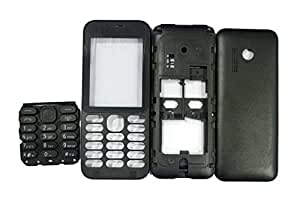 TOTTA Replacement Full Body Housing Back, Body Panel For Nokia 215- Black