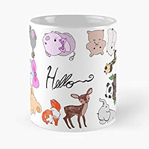 Cute Animal Greeting Card Design Classic Mug -11 Oz Coffee - Funny Sophisticated Design Great Gifts White-situen.