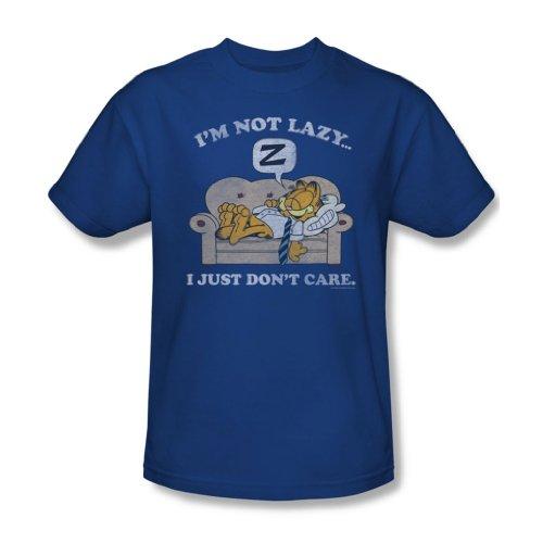 Garfield - Herren Not Lazy T-Shirt in Royal Royal