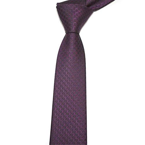57036375c8b4f HXCMAN 6cm violet carreaux maigre étroit cravate design classique 100% soie  cravate homme boîte cadeau