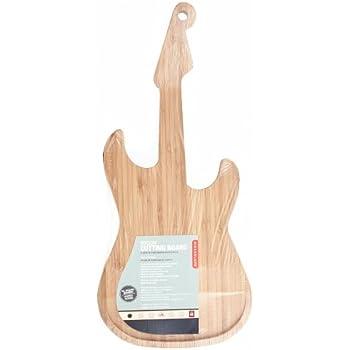 Kikkerland Guitar Cutting Board Tagliere, Legno, 49 x 22 x 2 cm