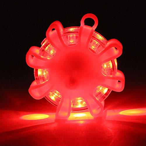 LED-Blinklichter, 8 LEDs, magnetischer Straßenblinker, Blinklicht, Notfall-Stroboskoplicht, SOS-Licht für Verkehrsunfälle, Pannen, Straßen- und Wassergefahr.
