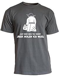 """Nukular T-Shirt """"Aus dem Weg Du gehst / Bier holen ich muss"""" für alle Party-liebenden Sci-Fi-Fans"""