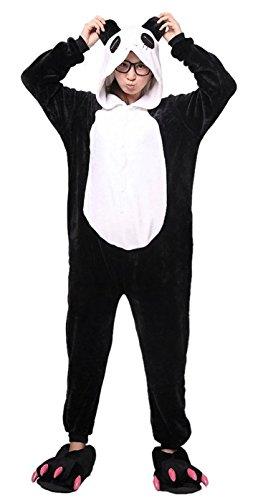 iKneu Panda Onesie Jumpsuits Kostuem Pyjama Oberall Hausanzug Kigurum Schlafanzug (Kostüm Trägt Mann)