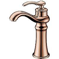 tougboo Oro bagno rubinetto Rame Rubinetto Oro Rosa Fashion rustico