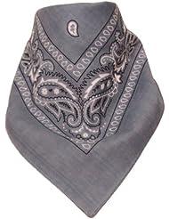Bandana avec Motif Paisley gris