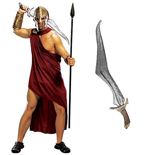 ILOVEFANCYDRESS Gladiator Grieche Spartacus 300 Krieger Arena KÄMPFER HISTORISCH LIZENSIERTES KOSTÜM VERKLEIDUNG Fasching Karneval Halloween Party =XLarge+Spartan ()